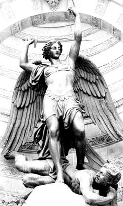 Michael defeating Satan ~ Saint-Michel, Paris, by Birgit Whelan 2